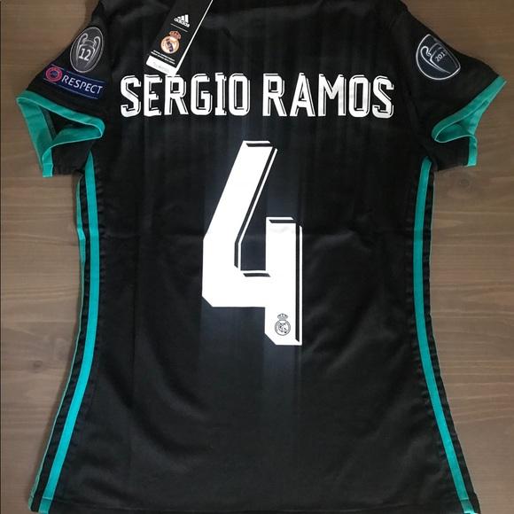 250a4203d Women Real Madrid Sergio Ramos  4 Soccer Adidas